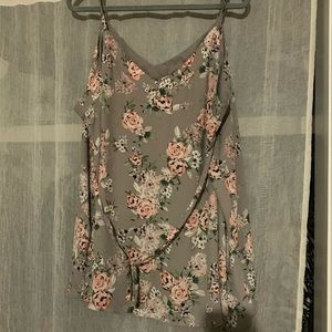 Plus size floral tank top